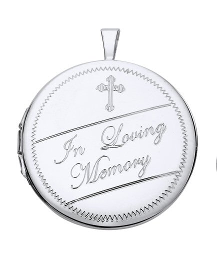 'In Loving Memory' Silver Locket